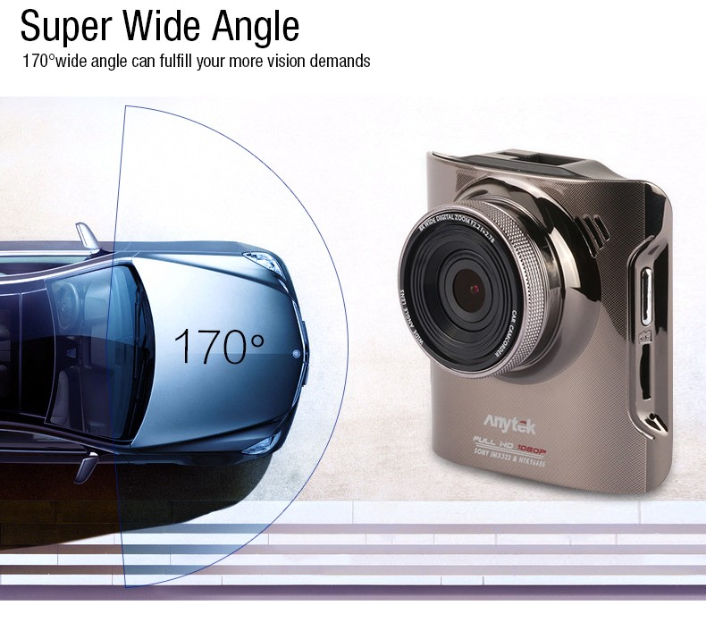 100 Original Anytek A3 Car DVRs Novatek 96655 Car Camera With Sony IMX322 CMOS Super Night Vision Dash Cam Car DVR Black Box