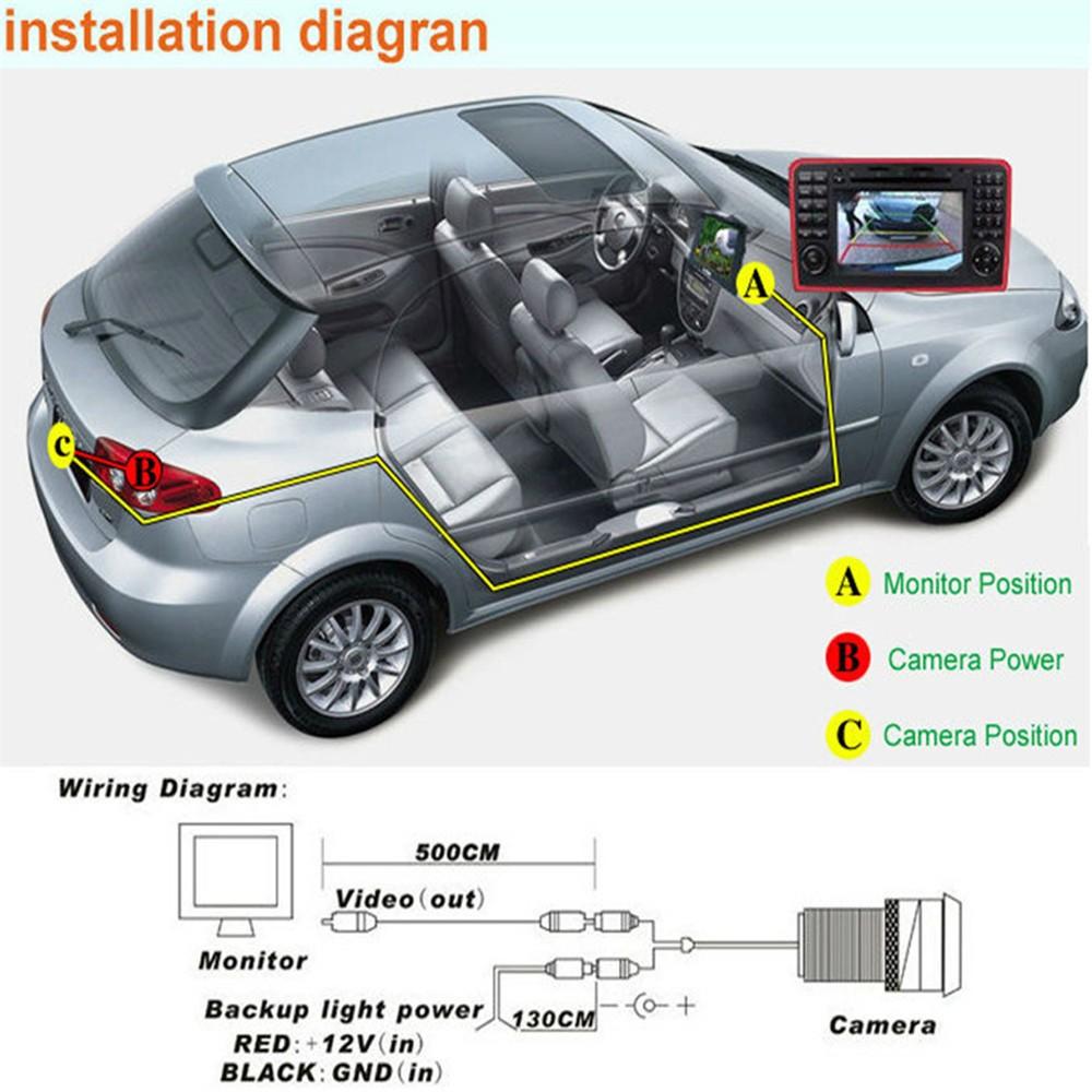 New High Qualtiy Mini Ccd Night Vision 360 Degree Car Rear Front Side Camera Wiring Diagram View Backup