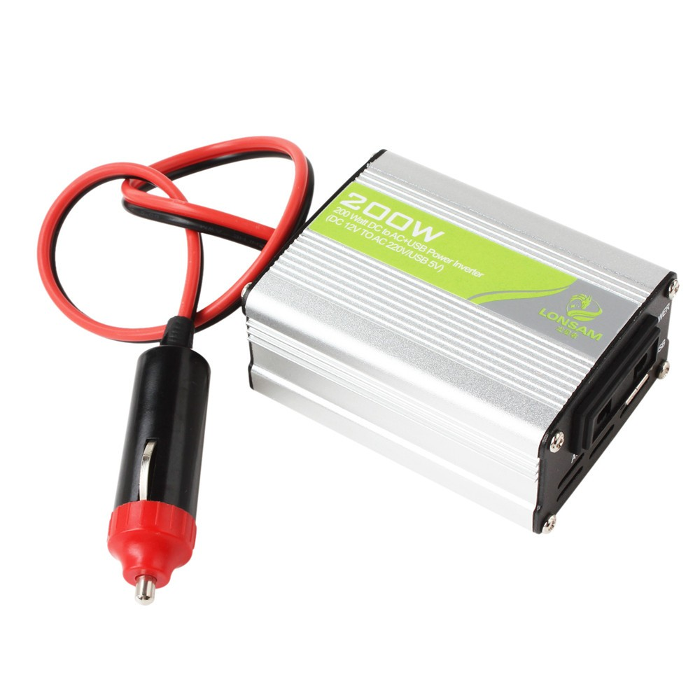 200 Watt Power Inverter Car Adapter dc 12v to ac 220v 200w power adpater car auto automatic