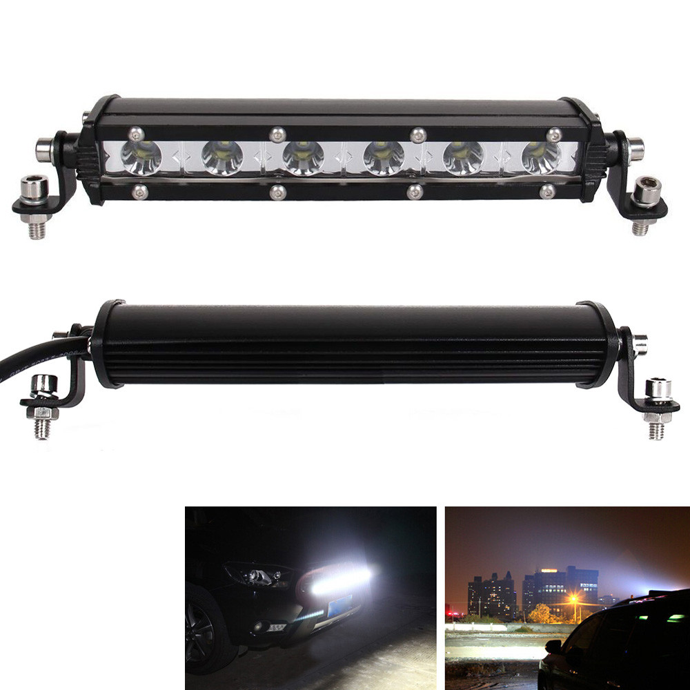 Slim 7inch 30W 3000LM Spot LED Single Row Work Light Bar Waterproof Dust proof Shockproof OFFROAD DRIVING SUV