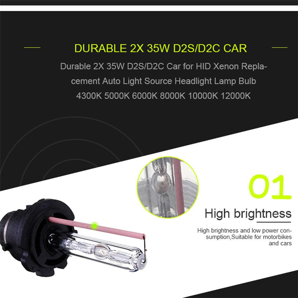 High Brightness Low Power Consumption 2Pcs 35W D2S / D2C Xenon Car