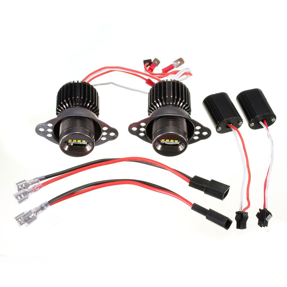 1 Pair 1200LM 20W R5 LED Angel Eye Light Halo Lamp For 09 11 E90 E91 LCI Halogen Headlight Models