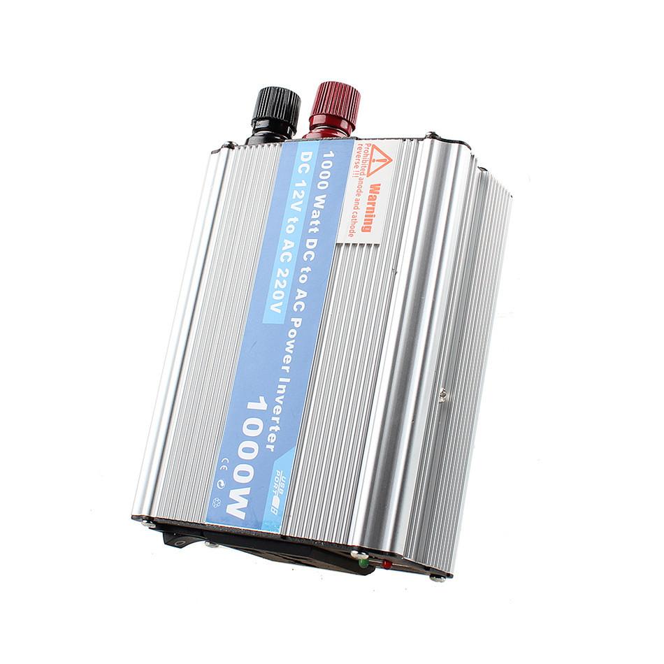 Soft Start High Efficiency Low Battery Alarm 1000W DC 12V to AC 220V