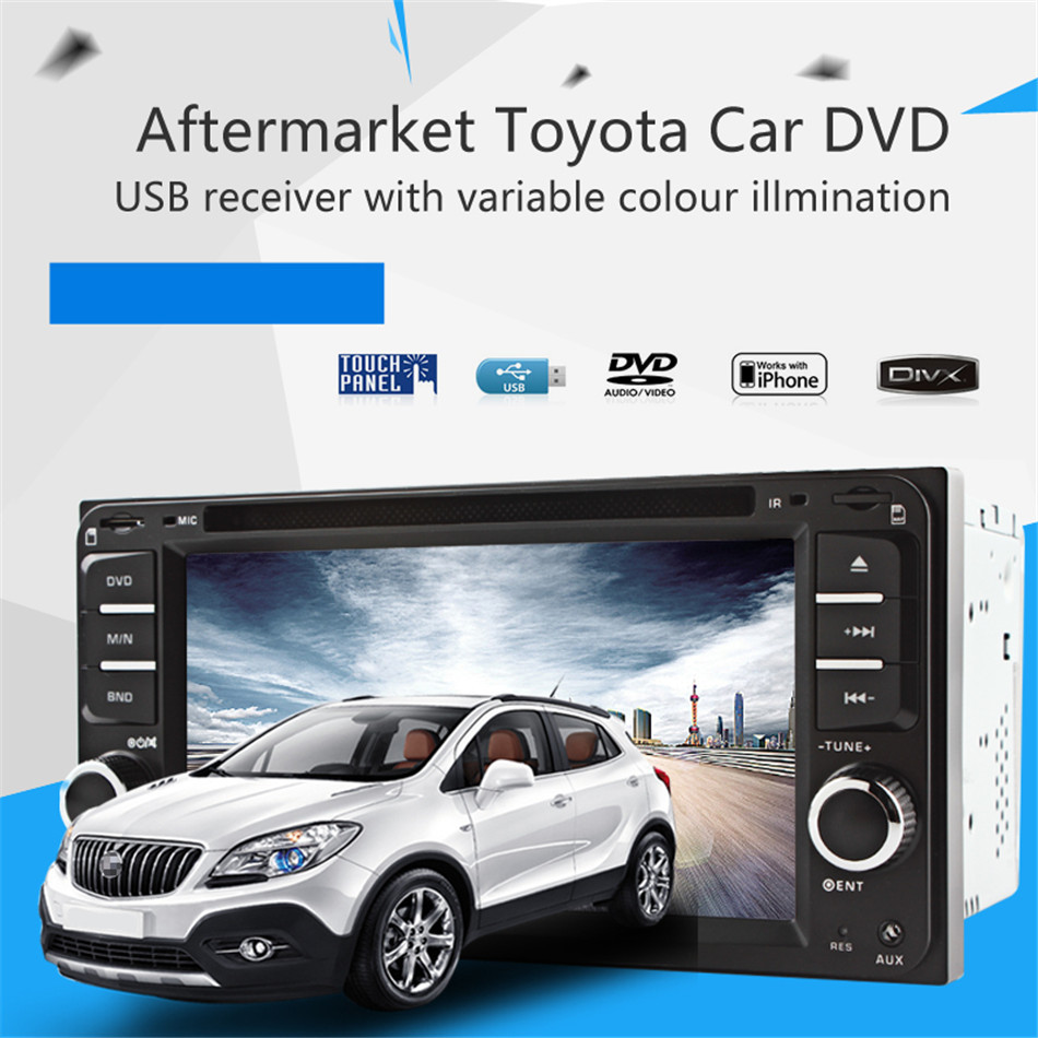 ... Universal Multi Function 6.5 Inch DVD Radio USB MP3 Player For Toyota  Corolla Camry Kluger Hiace ...