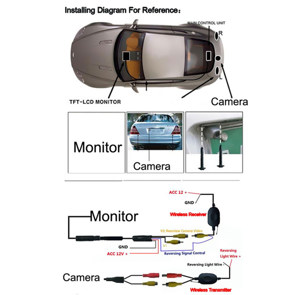 tft backup camera wiring diagram tft lcd color monitor