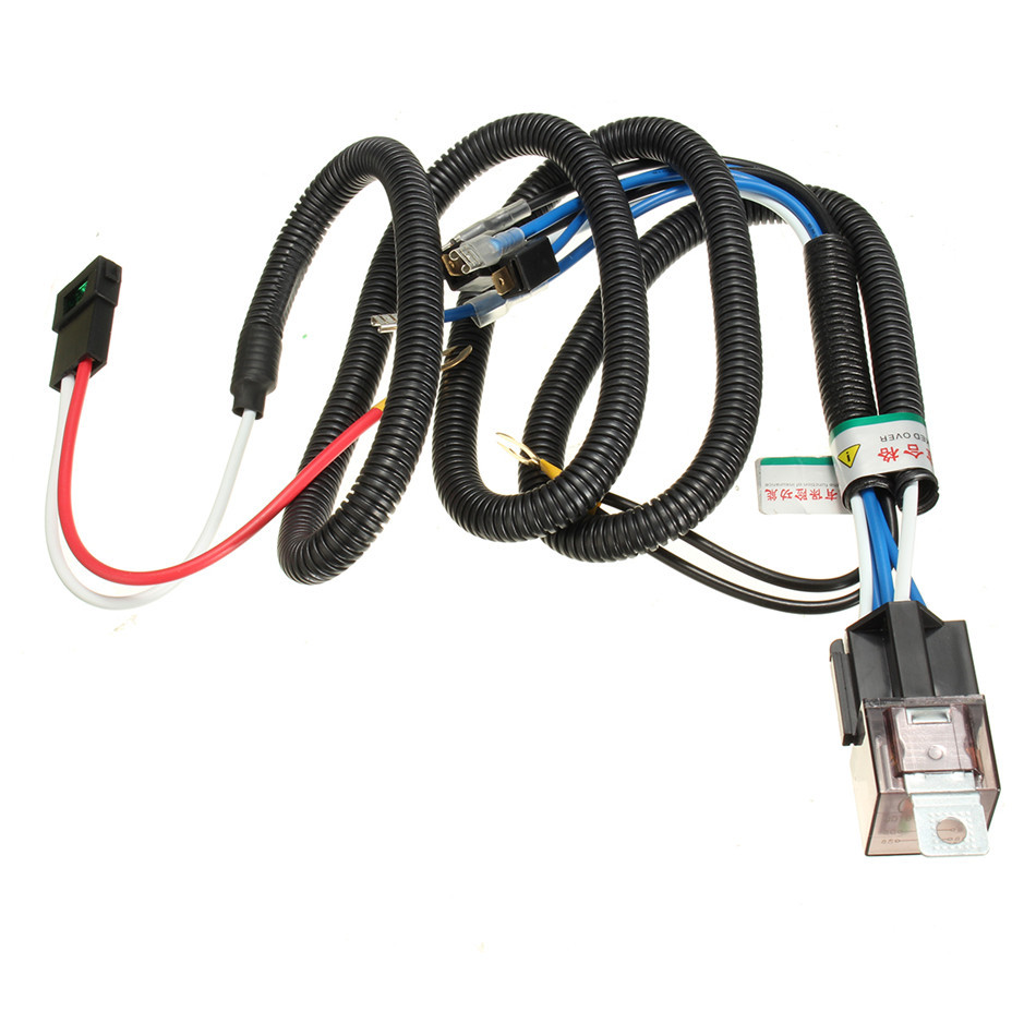 Universal High Efficient Heat Resistant 12v Electric Horn Relay Wiring Harness Kit For Grille Mount Blast
