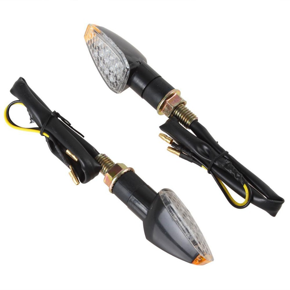 Sale 1 Pair Cheap 14 LEDs Universal Motorcycle Turn Signal Indicators Light Amber Blinker Light