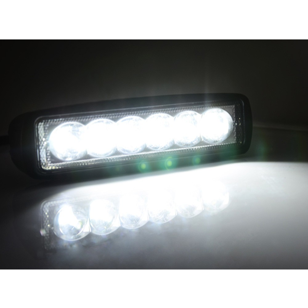 10PCS LOT 1550LM 6 Inch 18W 6 x 3W LED Light Bar as Worklight Flood Light Spot Light for Boating Hunting Fishing