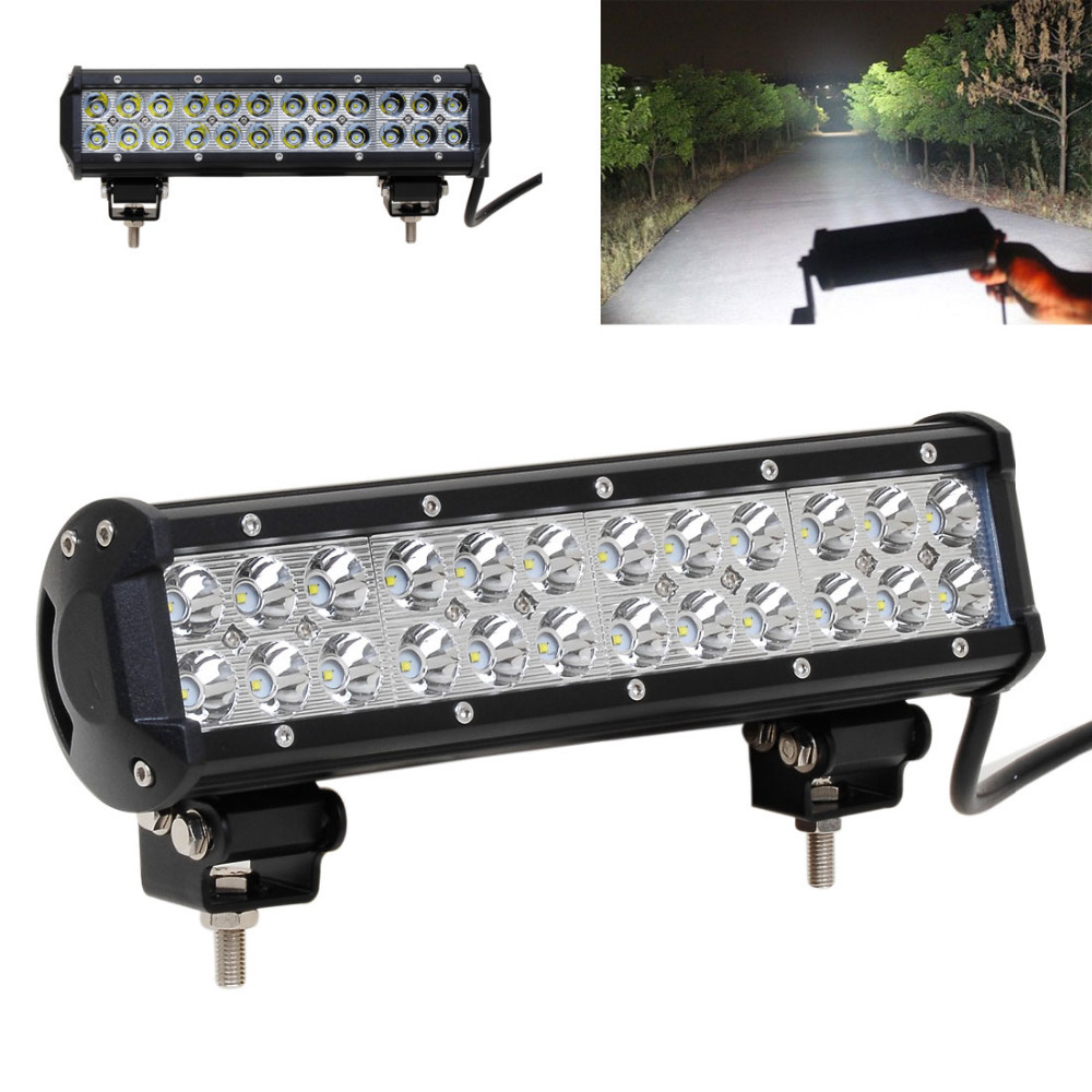 High Quality12 Inch 72W LED Work Light Bar Offroad 4X4 ATV Car Truck Fog Combo Lamp DC 10 30V Suitable for Indoor Outdoor uses