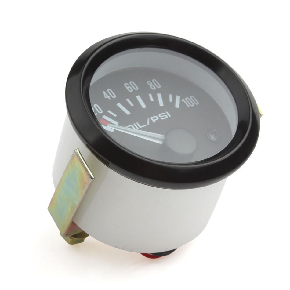"Universal Car Motor Auto 2/"" 52mm LED 0-100 PSI Oil Pressure Press Gauge Meter //"