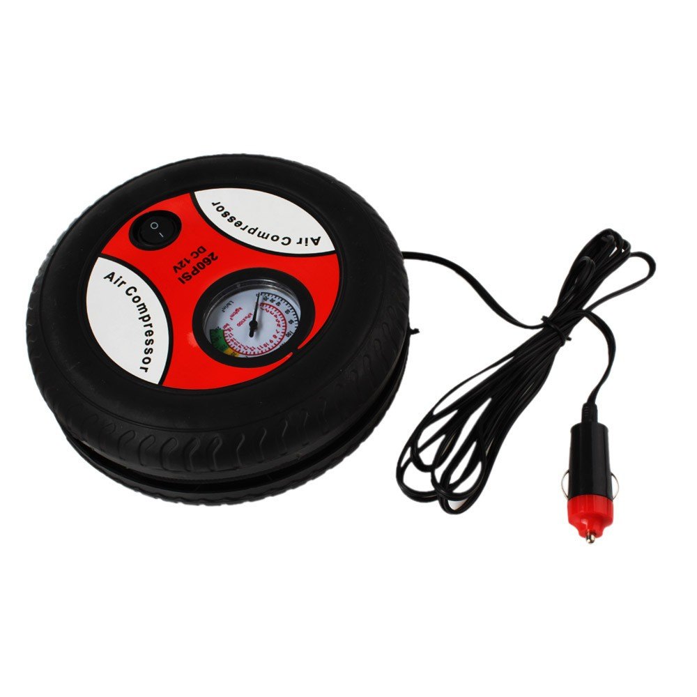 High Quality 260PSI DC12V Mini Tyre Tire Air Inflator Air Compressor Portable Electric Car Auto Air Pump