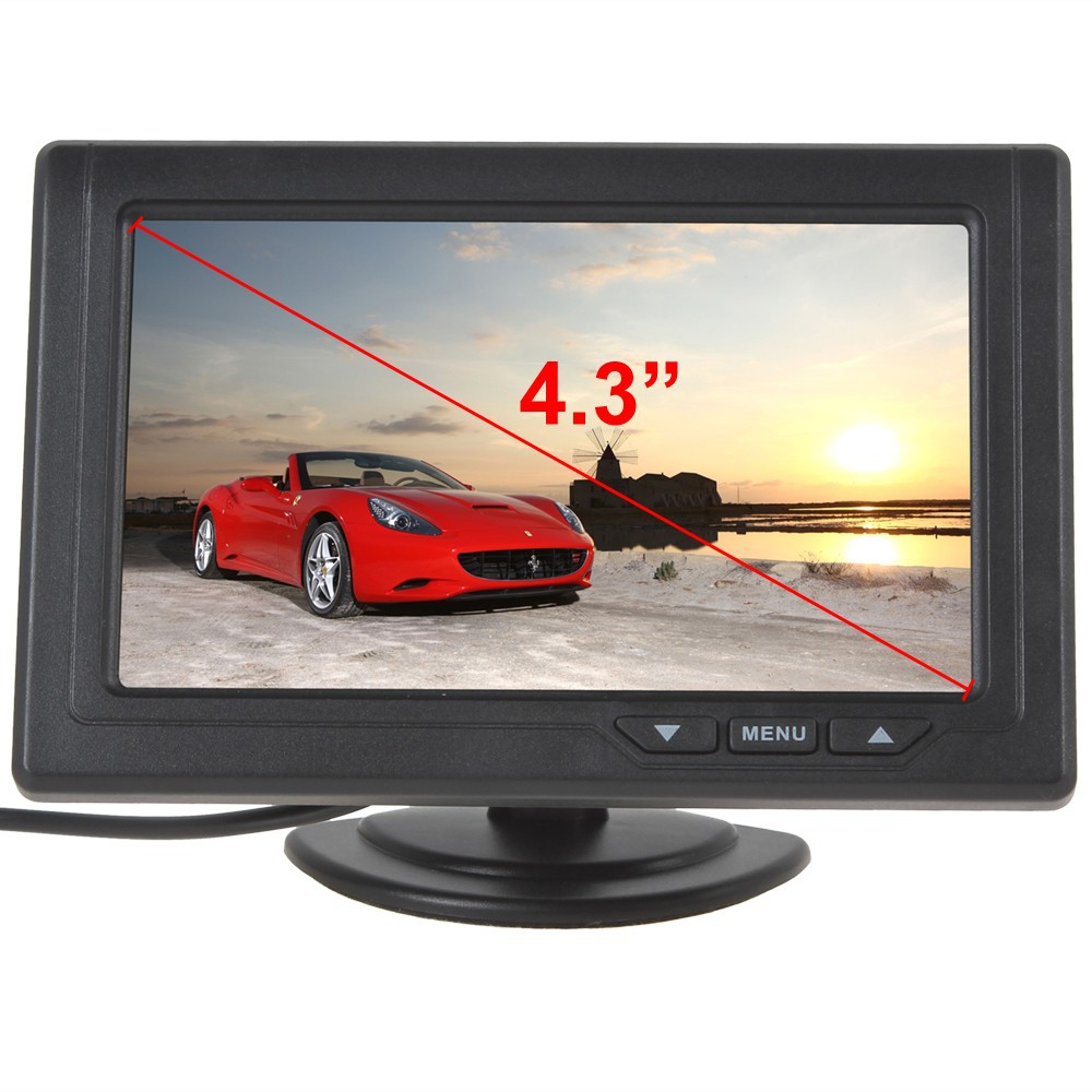 ... Sale 4.3 Inch LCD Car Monitor 480 x 272 Color Screen TFT Car Rear View Monitor ...