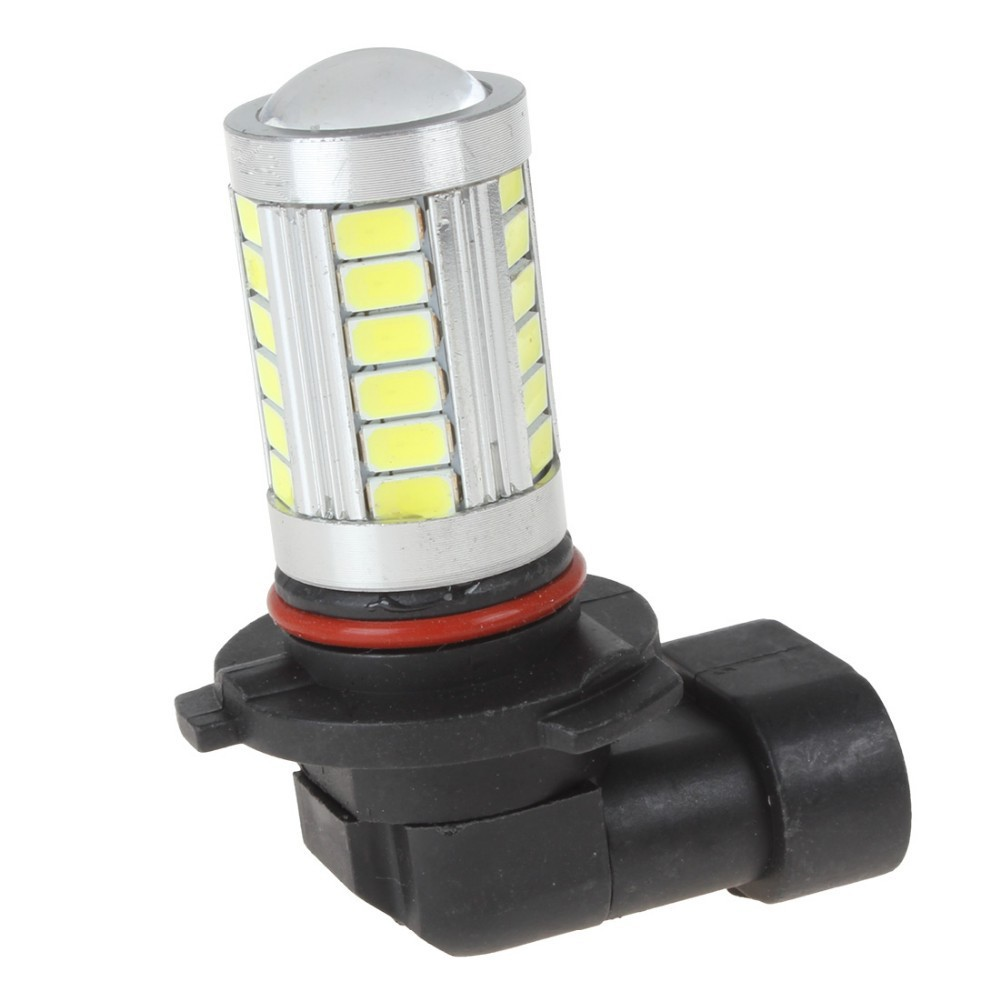 One Pair DC 12V 9005 5630 33SMD LED White Light Motorcycle Head Driving Daylight Car Fog Light DRL Lamp