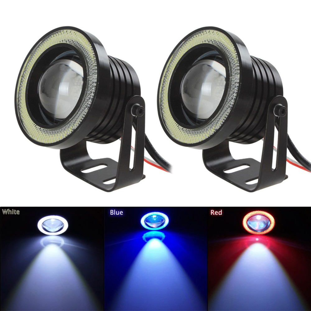 1 Pair 3.5 30W 1800LM DC 12V 24V LED COB Fog Light Vehicle Car LED Angel Eyes Light Lamp