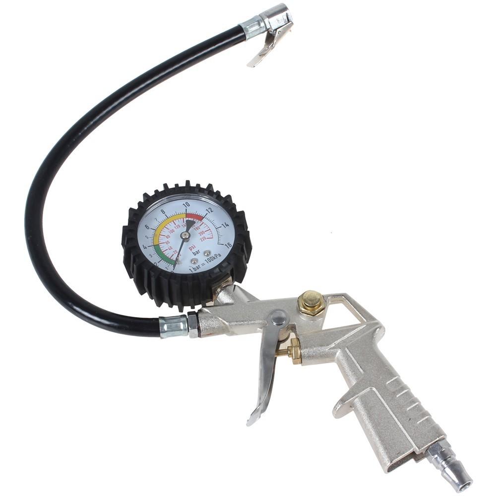 pcs sale   psi tire air pressure gauge  inflating gun  auto car motorcycle