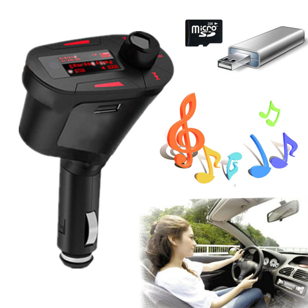 NEW 3 Colors choose red blue green Car Kit MP3 Player Wireless FM Transmitter Modulator LCD USB SD MMC with Remote Control