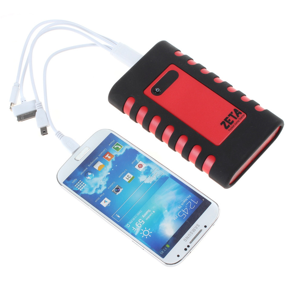 8800mAh Multi Function Car Jump Starter Pocket Emergency Source Portable Charger USB Charger for Mobile Phone Tablet Camera