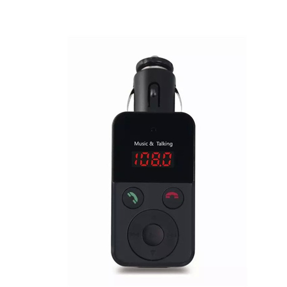 Universal Multifunctional 12V Bluetooth Car Kit Handsfree FM Transmitter Player Support USB SD Input with Remote Control