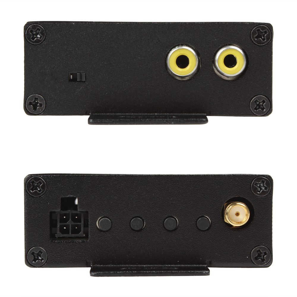 Black Wireless TPMS Transit Receiver System with 4 Sensors Displayed on Your DVD