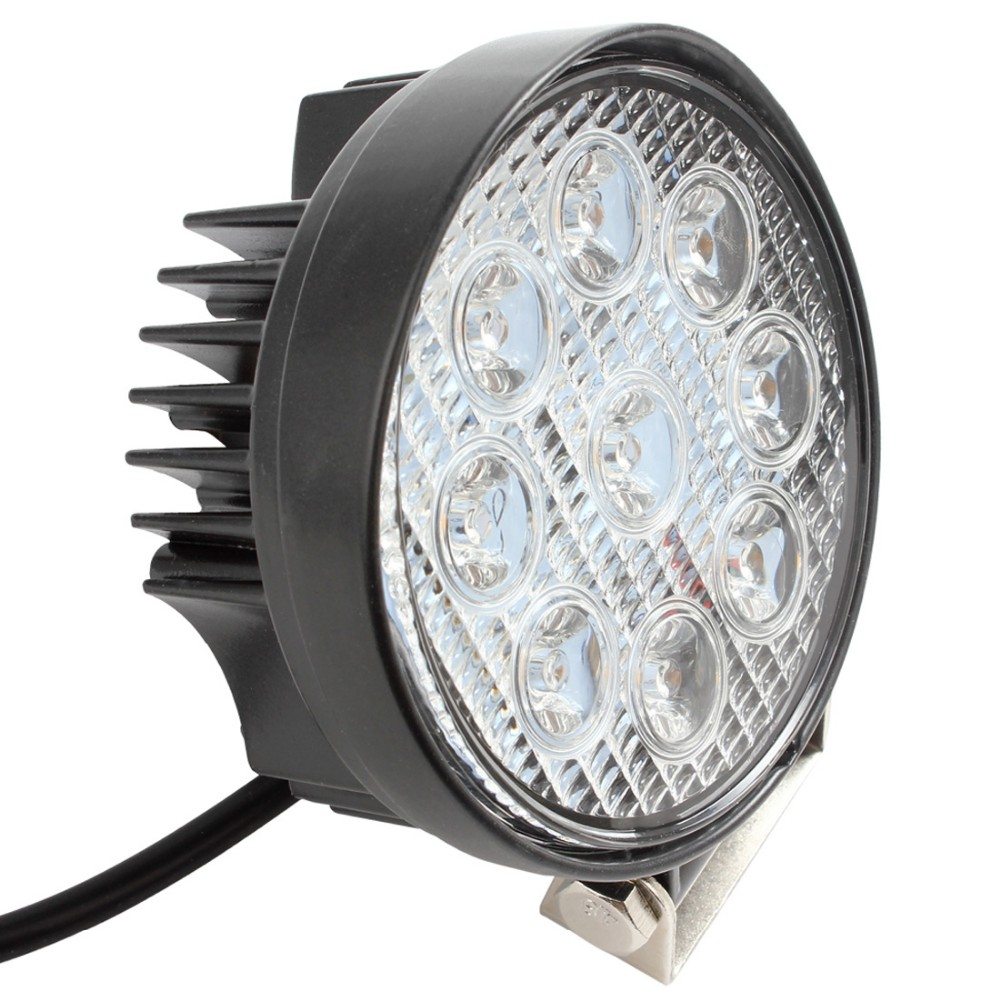 1600LM 4 27W IP67 Waterproof Round LED Work Light Car Working Lamp For Motorcycle Tractor Trunk Trailer Boat