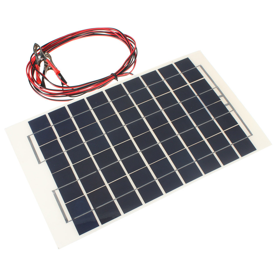High Efficient Excellent Performance 10W 12V Cell Solar Panel Module Battery Charger RV Boat Camping 4M Cable