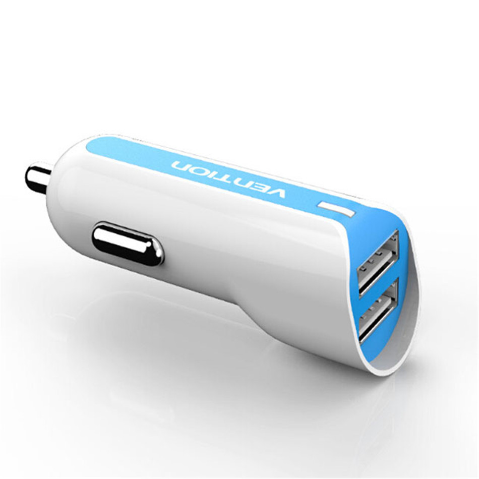 Vention Universal Mini USB Car Charger Adapter 2.4A Car Power Inverter 2 Port Dual USB Car Charger for iPhone Samsung HTC