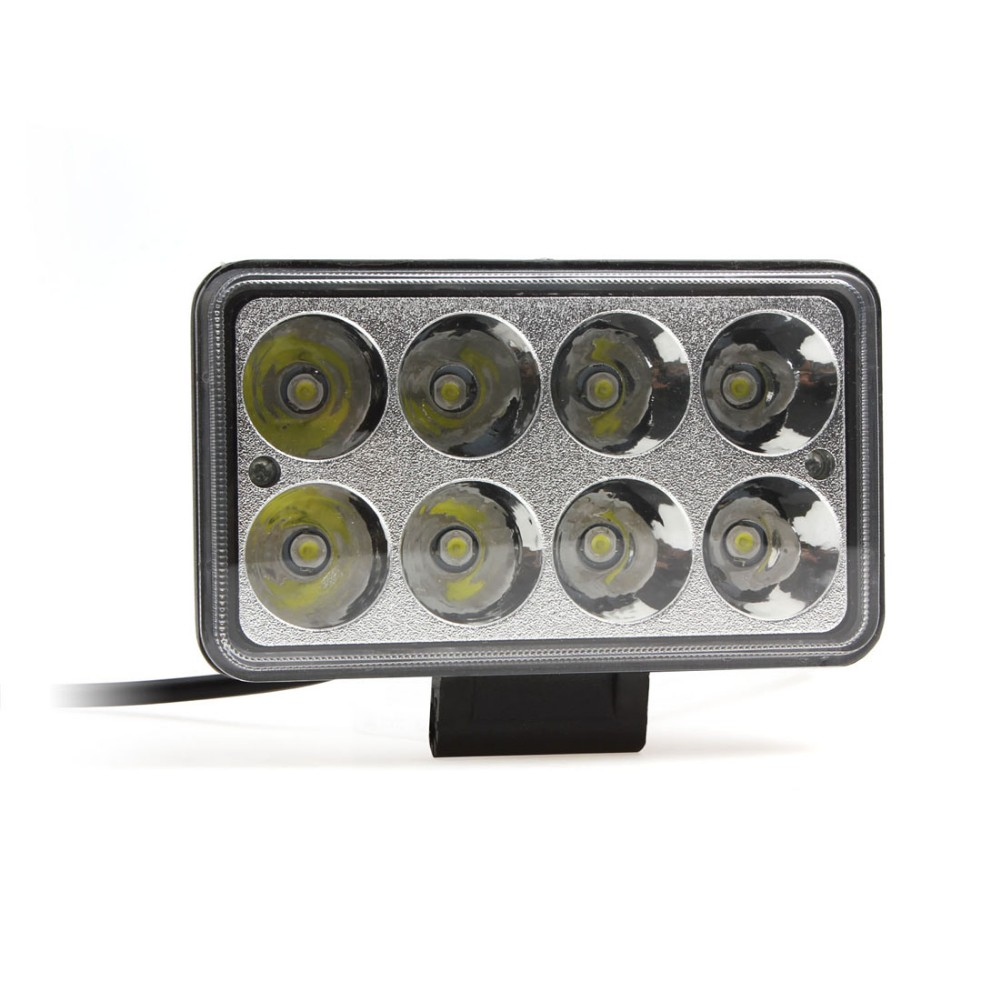 5.5 X 3.1 Inch Mirror Size 24W Waterproof LED Car Work Light 1500LM 6500K White Light Spotlight