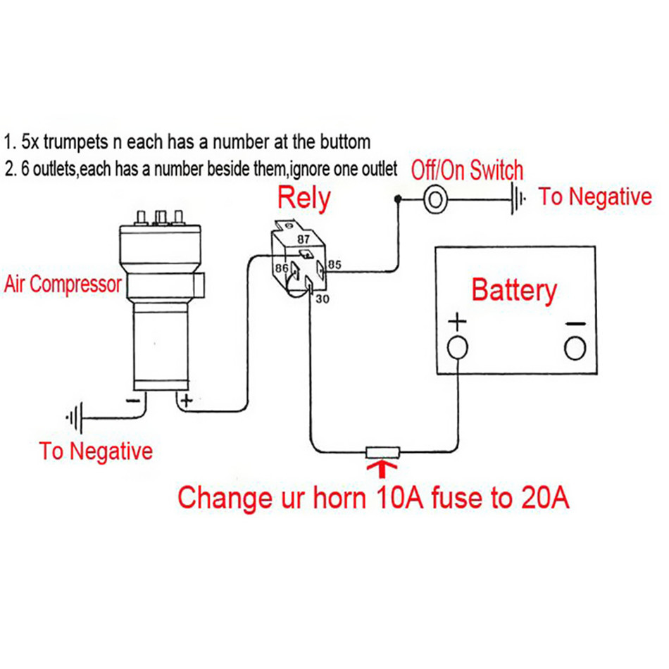 C0088c Musical Air Horn Wiring Diagram Wiring Resources
