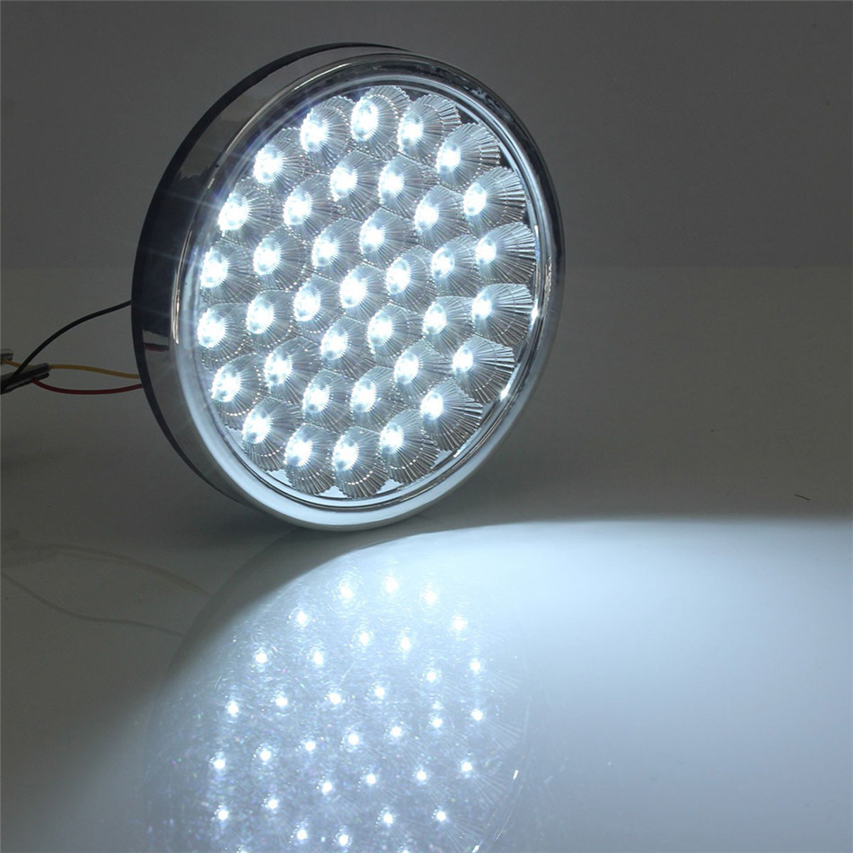 12V Universal 37LED Interior Dome Roof Light Ceiling Decoration Light Bright White Lamp for Car VAN Taxi Truck