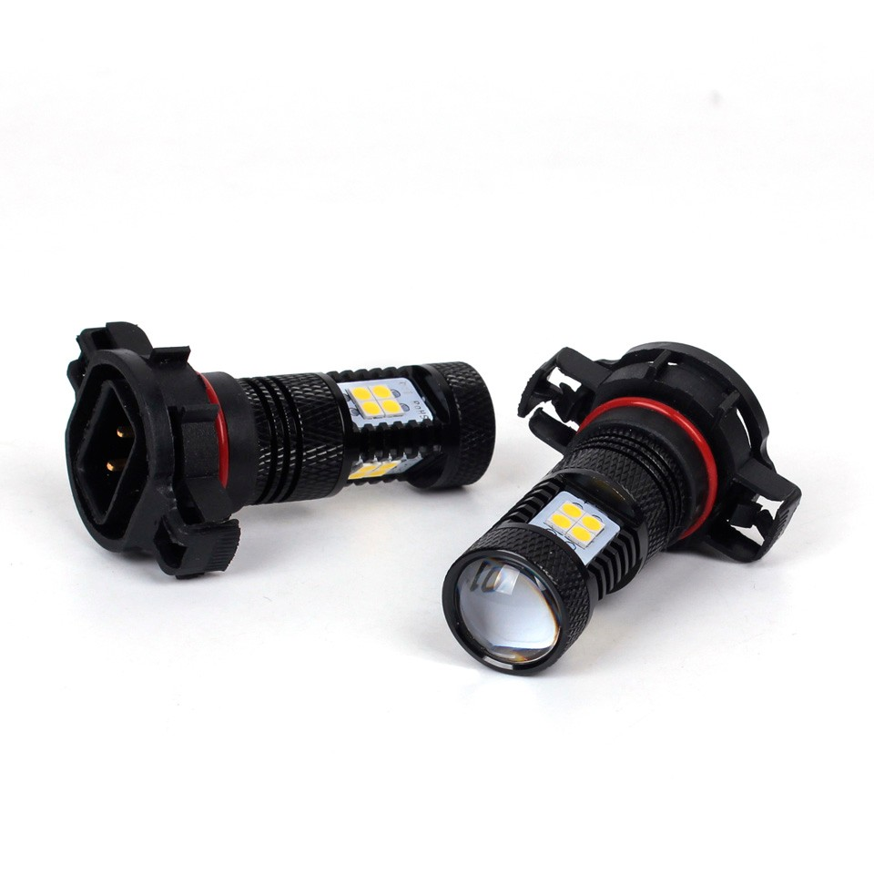 OGA 2PCS High Power White H16 5202 LED Car Fog Light Lamp LED Headlight Driving Lights Bulb For DC 12V Car Vehicles