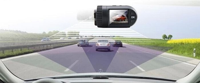 MINI 0805 Car DVR Recorder 1.5 TFT Screen GPS Auto Camcorder 1296P HD Resolution 120 Degree Angle Lens Support 32GB SD Card
