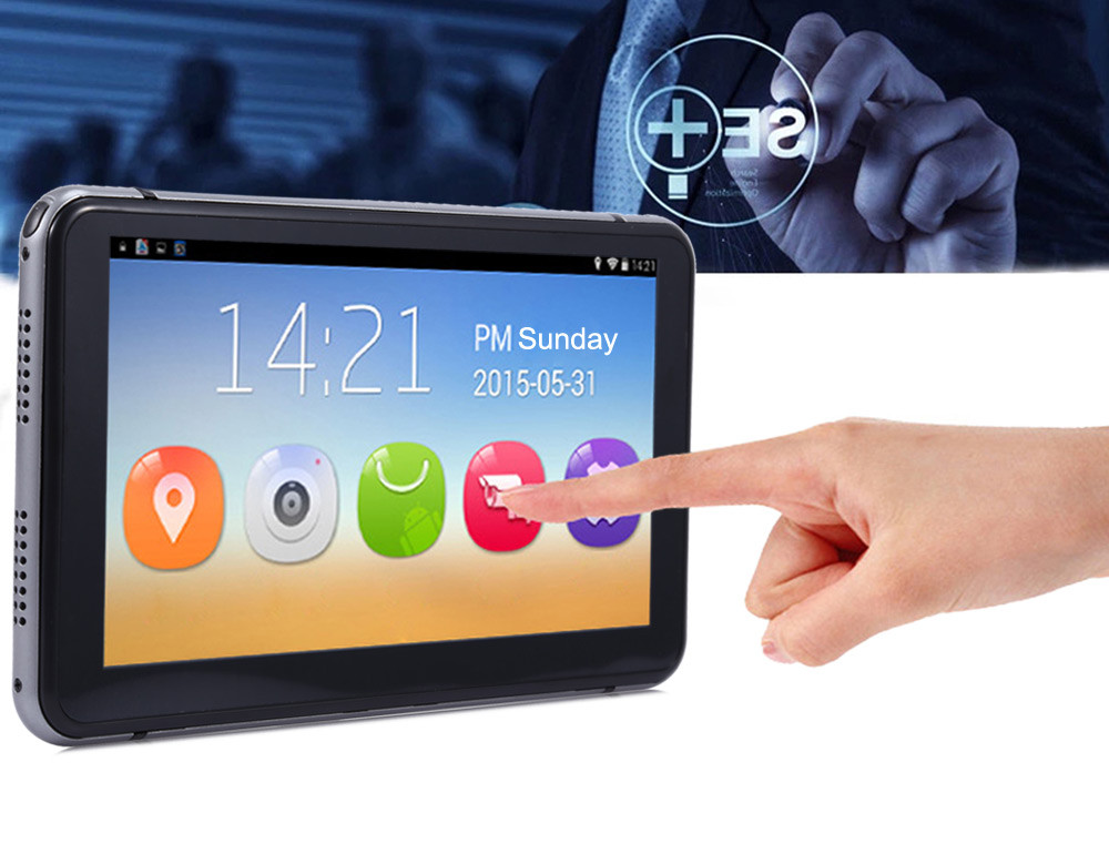 7 inch Car GPS Navigation Android 4.4.2 MTK8127 WIFI FM Bluetooth HD 1080P Car DVR Recorder 8G Flash with Touch Screen