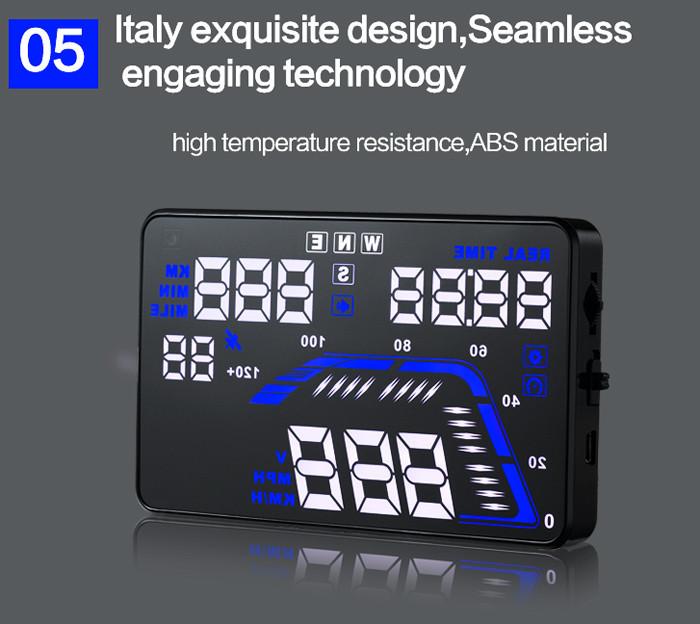 "Q7 Car HUD 5.5"" Car GPS Head Up Display Windscreen"