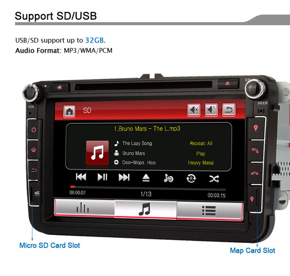 2 Din 8 U0026quot  Touch Screen Wce Car Dvd Video Player Gps