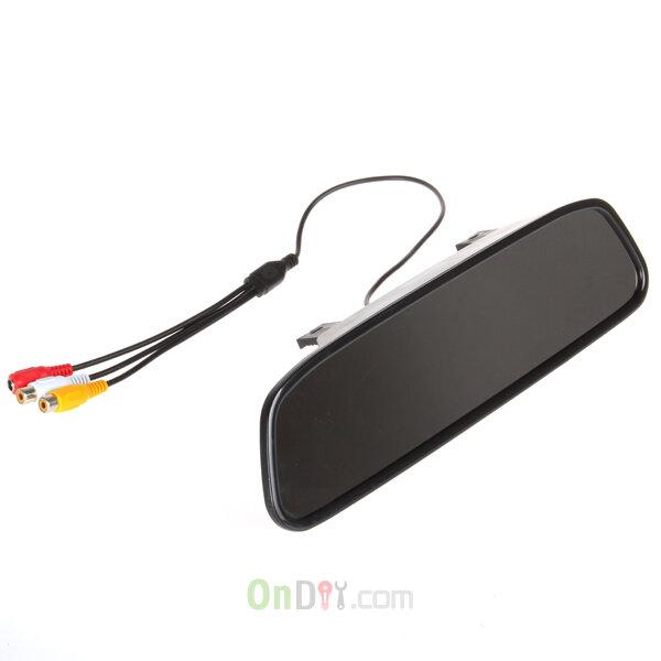 "7 IR RearView Backup Camera 4.3/"" TFT LCD Display Car RearView Mirror Monitor"