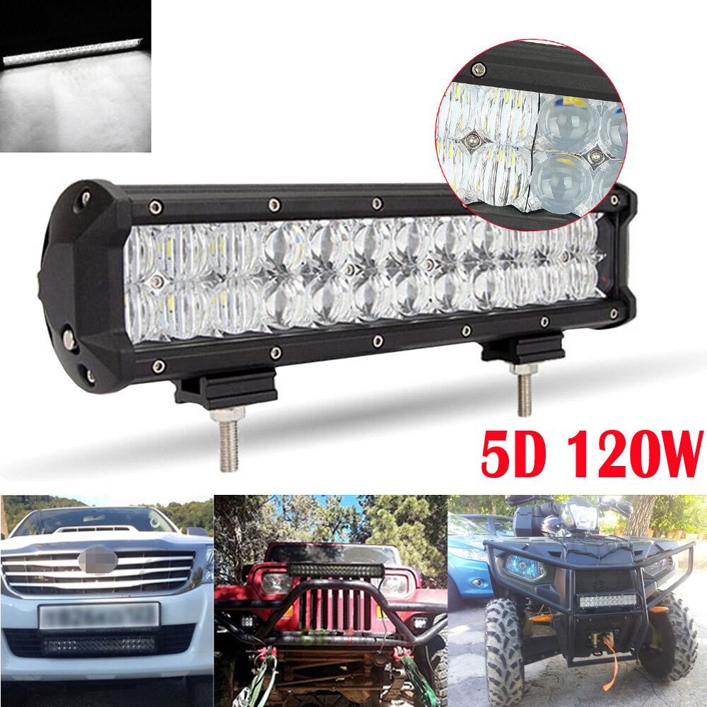 120w 12inch led chips light bar 5d auto suv combo for. Black Bedroom Furniture Sets. Home Design Ideas