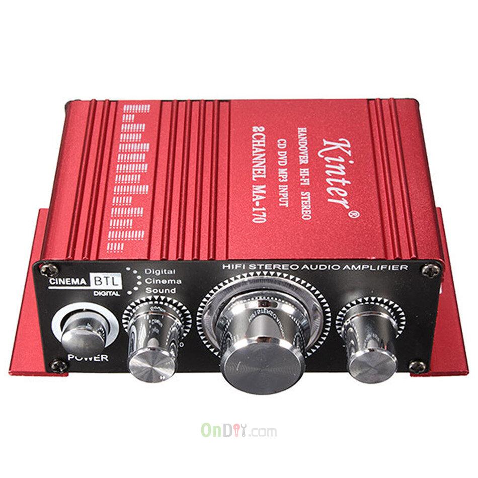 Diy Home Stereo Amplifier 30 Watt Circuit Gadgetronicx Mini 2ch Hi Fi Booster Bass Speaker Support Dvd Cd