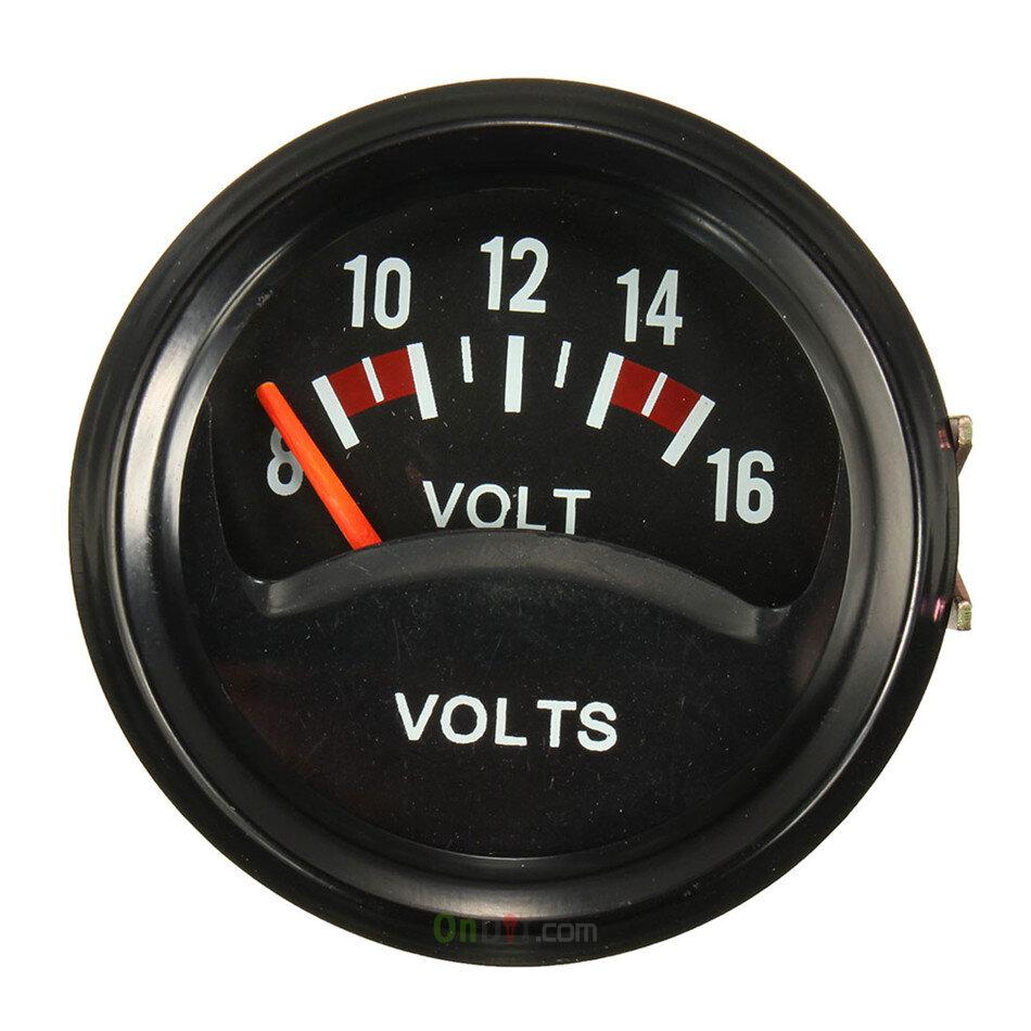 volt meter 12v gauge voltage automotive mechanical universal inch 52mm 16v temp water sensor kit temperature