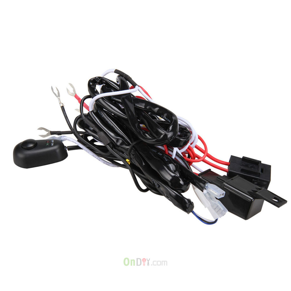 New High Quality Universal12v40a Car Fog Light Wiring Harness Kit Loom For Led Work Driving Bar With Fuse And Relay Switch