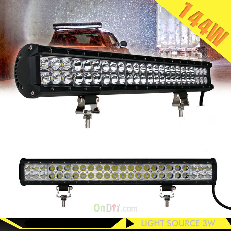 New 22inch 144W LED Work Light Bar 9600LM Combo for Off road SUV ATV ...
