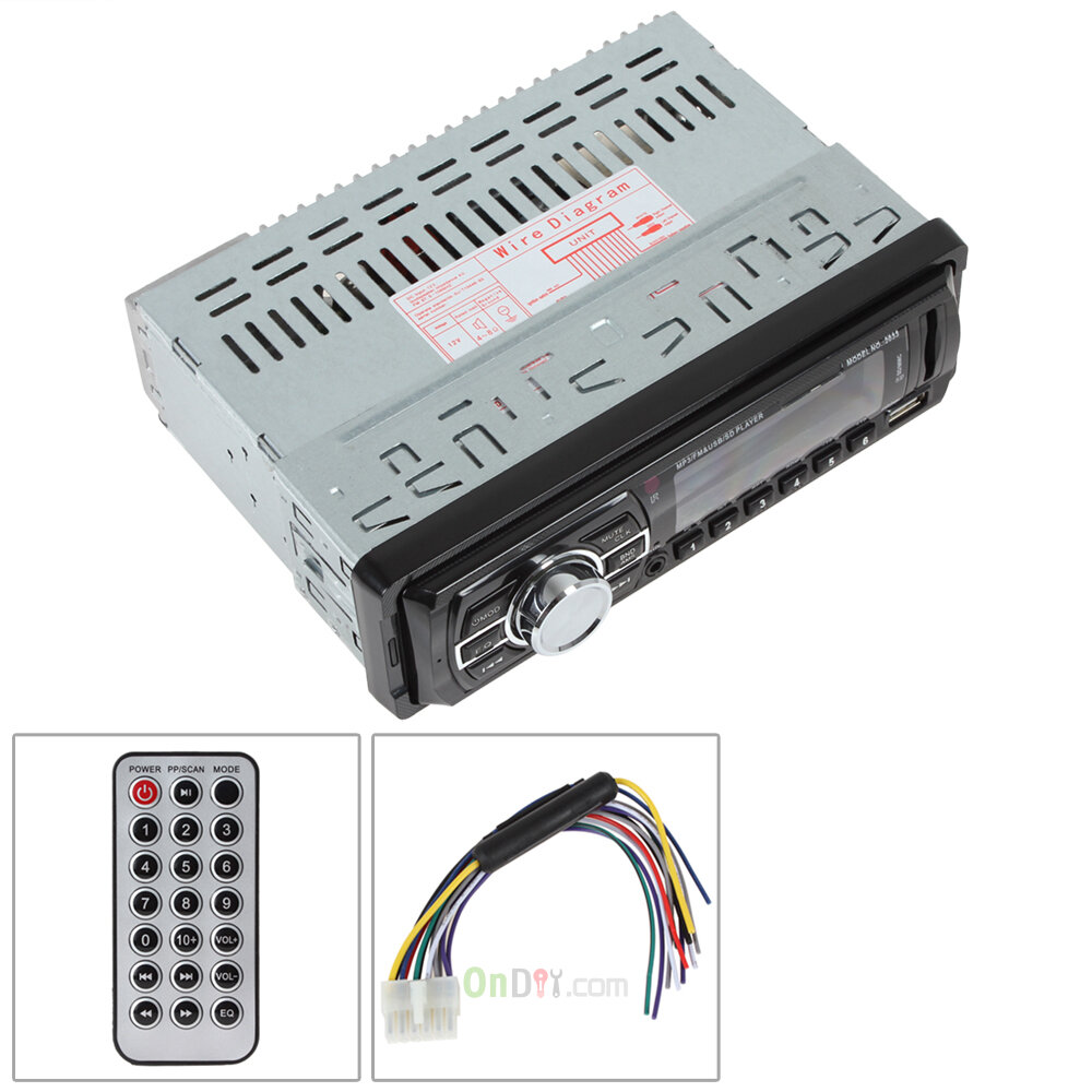 Wholesale Car Audio Stereo In Dash Fm Aux Input Receiver Sd Usb Mp3 Player Wiring Diagram Radio Remote Control