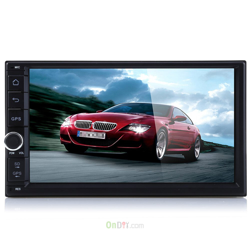 2 din car stereo video dvd player with 7 touch screen. Black Bedroom Furniture Sets. Home Design Ideas